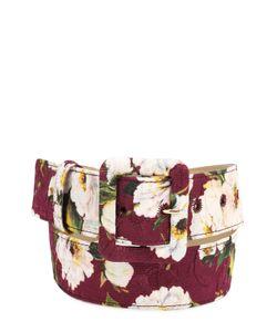 Dolce & Gabbana | Ремень С Цветочным Принтом