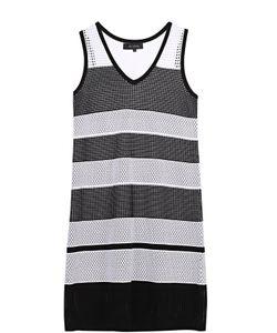 St. John | Платье Прямого Кроя С V-Образным Вырезом И Полупрозрачными Вставками