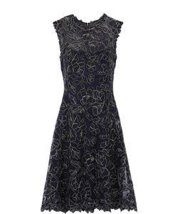 Tadashi Shoji | Приталенное Кружевное Мини-Платье Без Рукавов