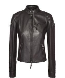 Ralph Lauren | Укороченная Кожаная Куртка С Декоративной Отделкой