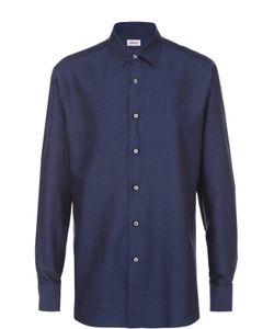 Brioni | Хлопковая Рубашка С Воротником Кент