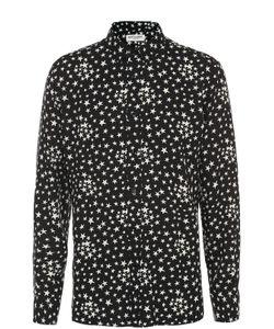 Saint Laurent | Рубашка Из Вискозы С Принтом В Виде Звезд