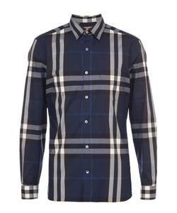 Burberry | Рубашка Из Эластичного Хлопка В Клетку