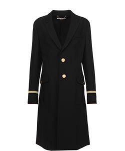 Givenchy | Пальто Прямого Кроя С Контрастной Декоративной Отделкой