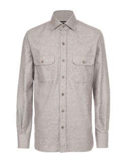 Tom Ford | Хлопковая Рубашка С Воротником Кент