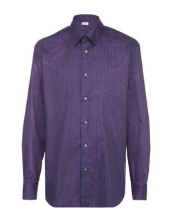 Brioni | Хлопковая Рубашка С Узором