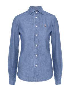 Polo Ralph Lauren | Приталенная Хлопковая Блуза С Вышитым Логотипом Бренда