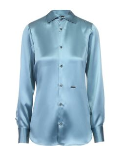 Dsquared2 | Приталенная Шелковая Блуза