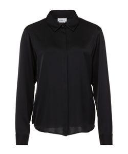 DKNY   Шелковая Блуза Прямого Кроя С Удлиненной Спинкой