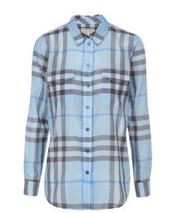 Burberry Brit | Хлопковая Блуза В Клетку С Накладными Карманами