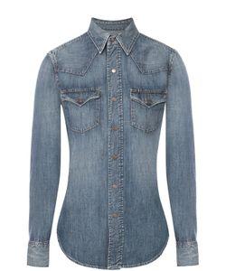 Polo Ralph Lauren | Приталенная Джинсовая Блуза С Накладными Карманами