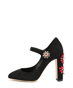 Dolce & Gabbana | Замшевые Туфли Vally С Декором На Каблуке