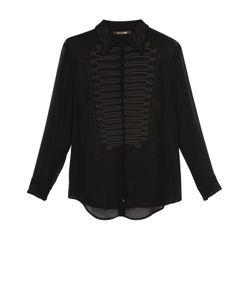 Roberto Cavalli | Шелковая Блуза Прямого Кроя С Декоративной Отделкой