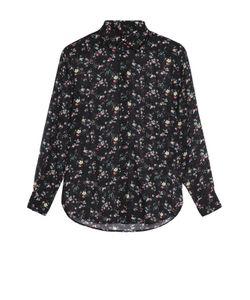 Saint Laurent | Шелковая Полупрозрачная Блуза С Ярким Принтом