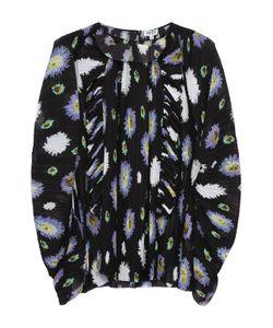 Kenzo | Плиссированная Блуза Асимметричного Кроя С Цветочным Принтом