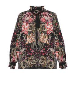 Roberto Cavalli | Шелковая Полупрозрачная Блуза С Ярким Принтом