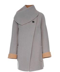 Giorgio Armani | Шерстяное Пальто Прямого Кроя С Отстегивающимся Воротником
