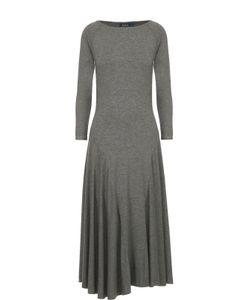 Polo Ralph Lauren | Приталенное Платье С Длинным Рукавом И Широкой Юбкой