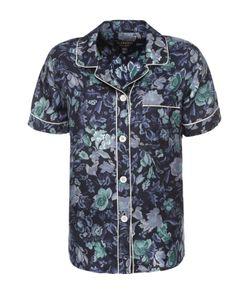 Burberry | Шелковая Блуза В Пижамном Стиле С Цветочным Принтом