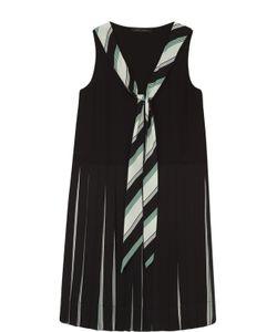 Marc Jacobs | Шелковое Платье Прямого Кроя С Юбкой В Складку