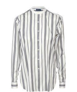Polo Ralph Lauren   Шелковая Блуза Прямого Кроя С Контрастную Полоску