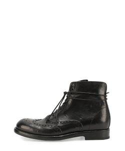 Mauron | Высокие Кожаные Ботинки С Брогированием