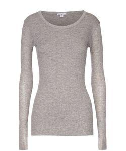 James Perse | Облегающий Хлопковый Пуловер С Круглым Вырезом