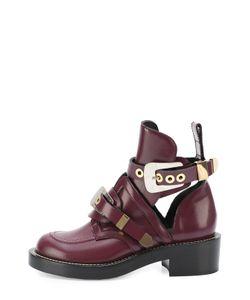 Balenciaga | Кожаные Ботинки С Декорированными Ремешками