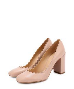 Chloe | Кожаные Туфли Lauren С Фигурным Вырезом Chloé