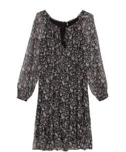 Elie Tahari | Приталенное Полупрозрачное Платье На Кулиске