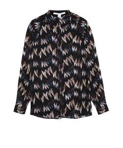 Diane Von Furstenberg | Шелковая Блуза Прямого Кроя С Контрастным Принтом