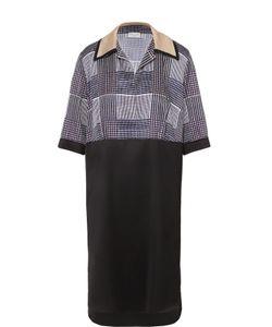 Dries Van Noten | Платье-Рубашка Прямого Кроя С Укороченным Рукавом