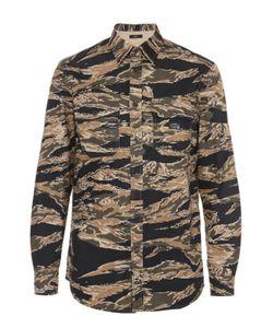 Diesel | Хлопковая Рубашка С Камуфляжным Принтом