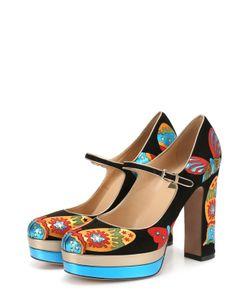 Valentino | Замшевые Туфли Japanese Butterfly С Аппликациями