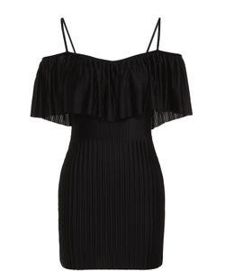 Givenchy | Плиссированный Удлиненный Топ С Открытыми Плечами