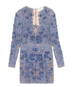 Zuhair Murad | Платье-Футляр С Прозрачными Вставками И Цветочной Вышивкой