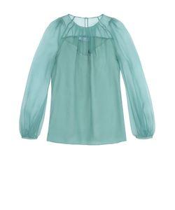 Blumarine | Шелковая Блуза С Круглым Вырезом И Защипами