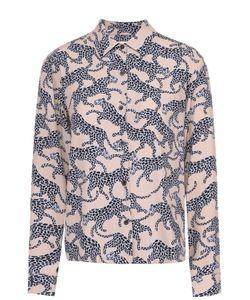Dries Van Noten | Блуза Прямого Кроя Со Звериным Принтом