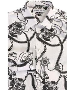 Alexander McQueen | Хлопковая Рубашка С Принтом
