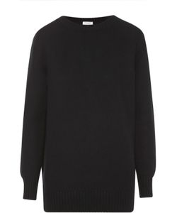 Saint Laurent | Кашемировый Пуловер Фактурной Вязки С Круглым Вырезом