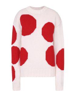 MSGM | Пуловер Прямого Кроя С Контрастным Принтом И Круглым Вырезом