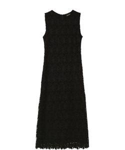 Ermanno Scervino | Кружевное Приталенное Платье С Высоким Разрезом