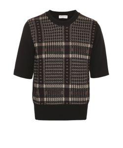 Dries Van Noten | Пуловер С Укороченным Рукавом И Круглым Вырезом