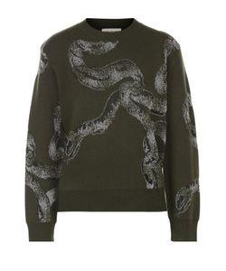 Dries Van Noten | Укороченный Пуловер Прямого Кроя С Принтом