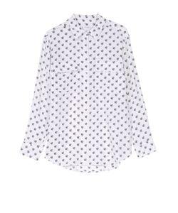 Equipment | Шелковая Блуза С Контрастным Принтом И Накладными Карманами