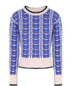 Marni | Укороченный Пуловер Прямого Кроя С Контрастным Принтом