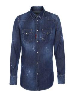 Dsquared2 | Джинсовая Рубашка С Потертостями