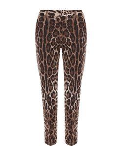 Dolce & Gabbana | Укороченные Брюки Прямого Кроя С Леопардовым Принтом