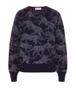 Dries Van Noten | Кашемировый Пуловер С Манжетами И Звериным Принтом