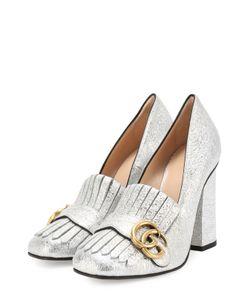 Gucci | Туфли Marmont Из Металлизированной Кожи